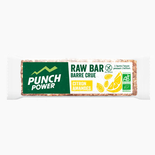 Barre crue Punch Power bio - Citron et amandes