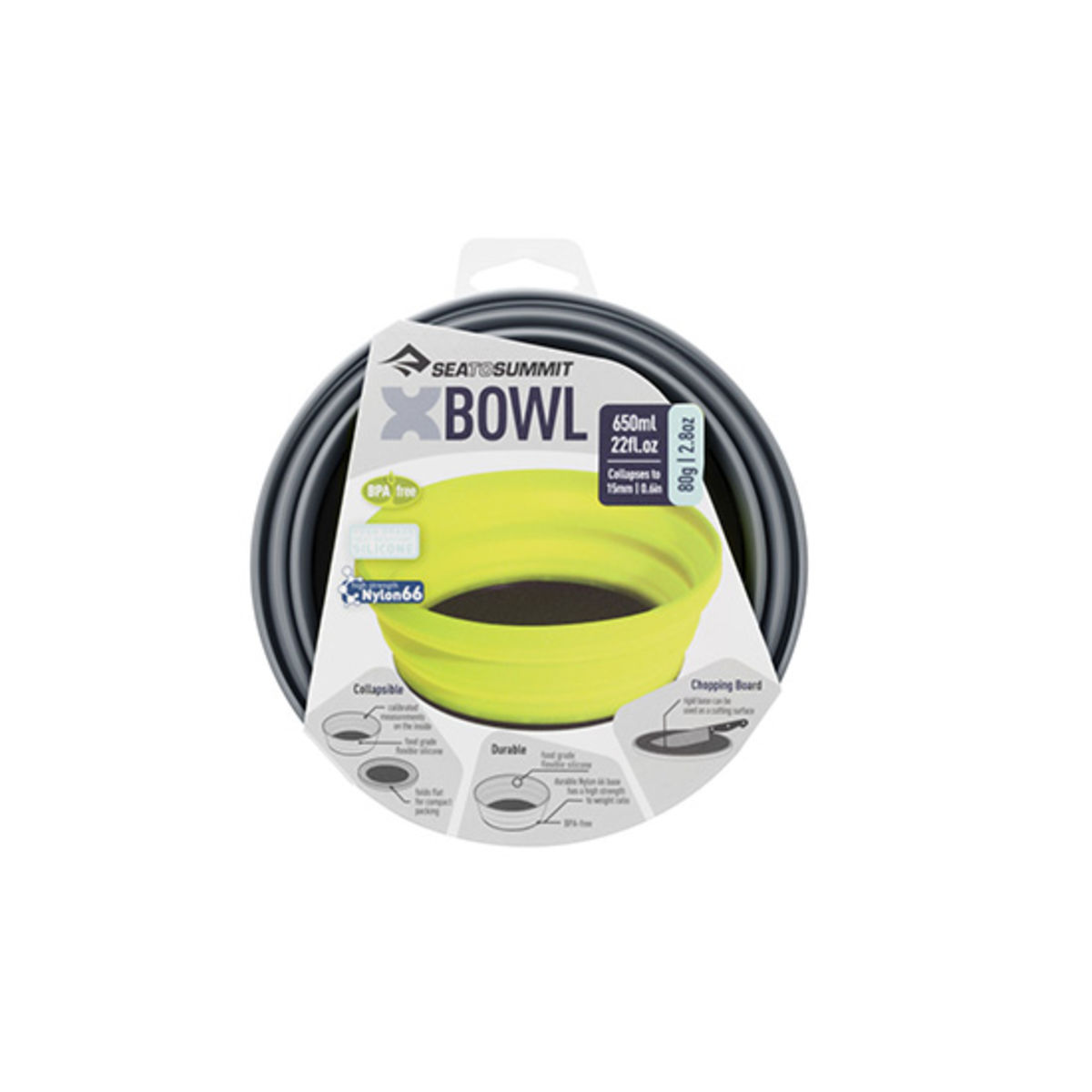 Bol pliable Sea to Summit X-Bowl - 0,65 L - Gris